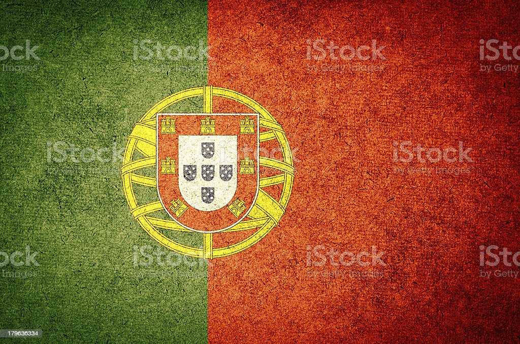 Grunge Flag of Portugal stock photo