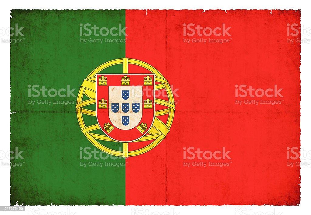 Bandera de Grunge de Portugal - foto de stock