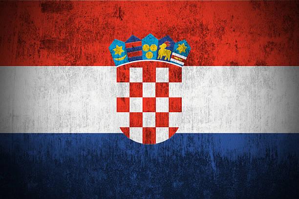 Bandeira de Grunge da República da Croácia - foto de acervo