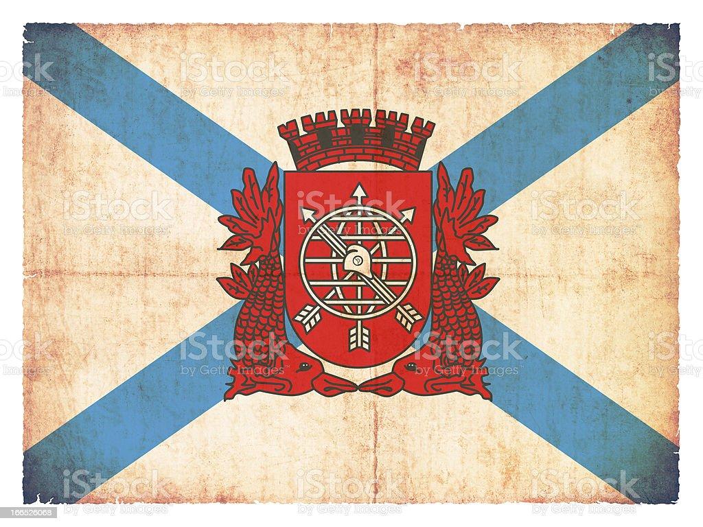 Grunge flag of Rio de Janeiro (Brazil) royalty-free stock photo