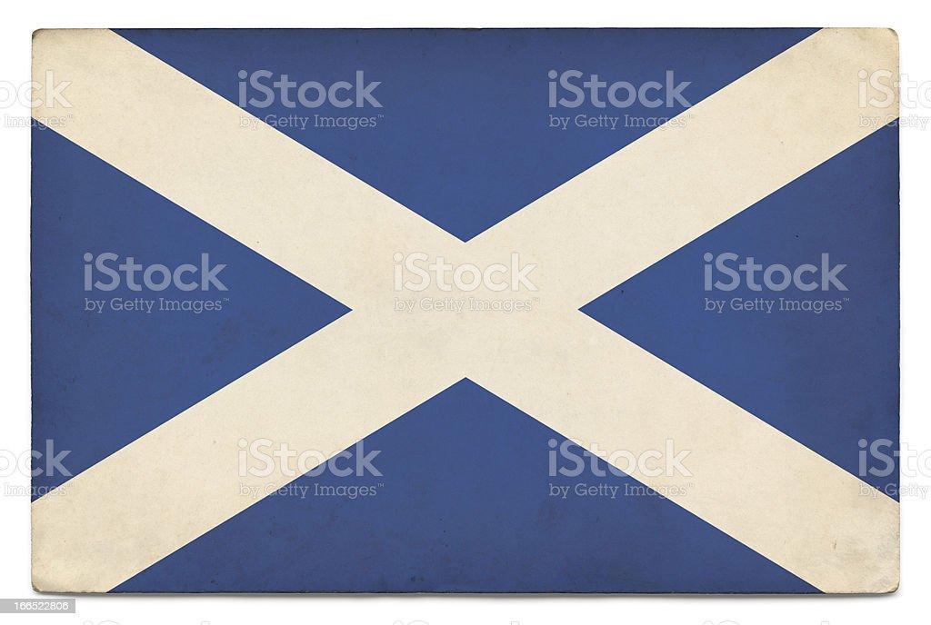 Grunge flag of Scotland on white stock photo