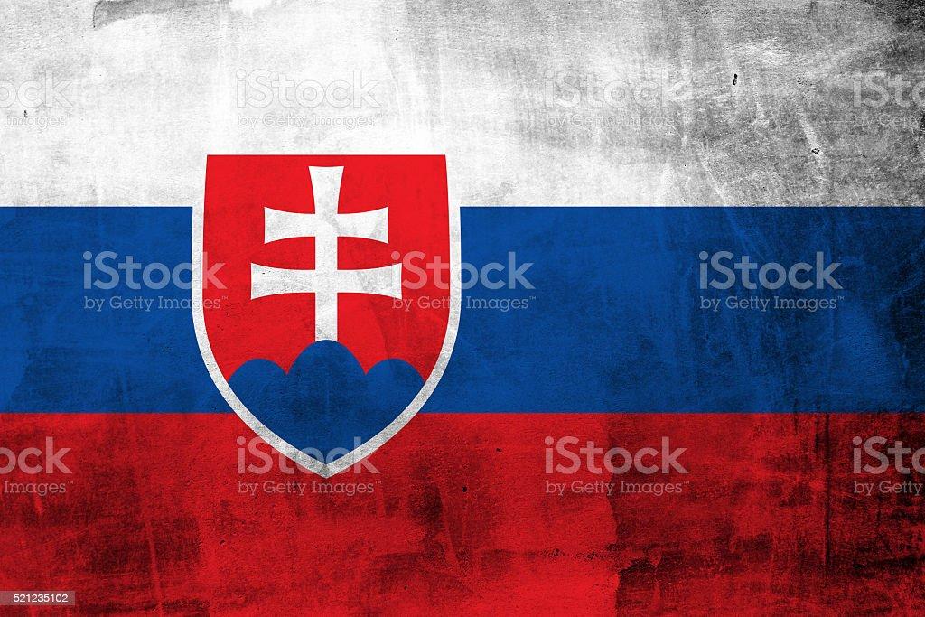 Grunge Flag of Slovakia stock photo