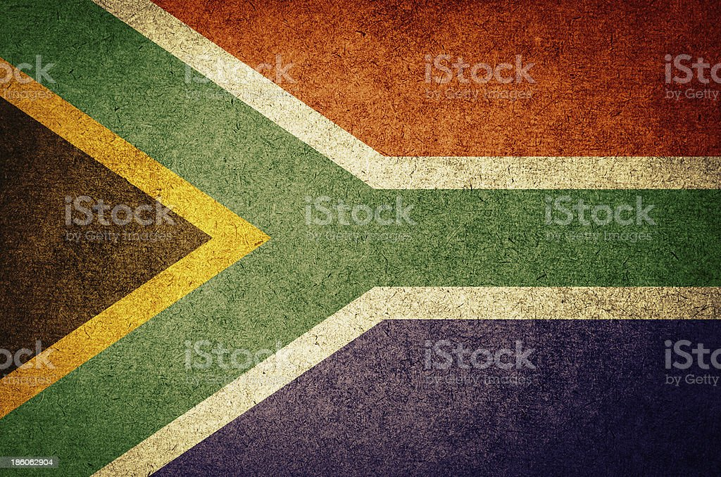 Grunge Flag of South Africa stock photo