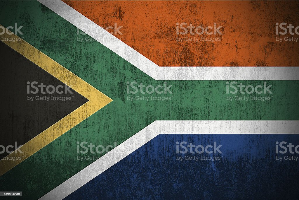 Grunge Flag Of South Africa royalty-free stock photo