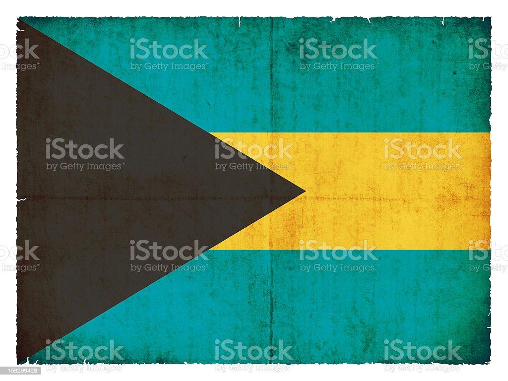 Grunge flag of the Bahamas royalty-free stock photo