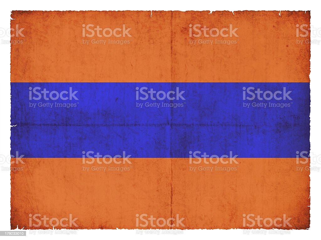 Grunge flag of  the historic state Nassau (Germany) royalty-free stock photo