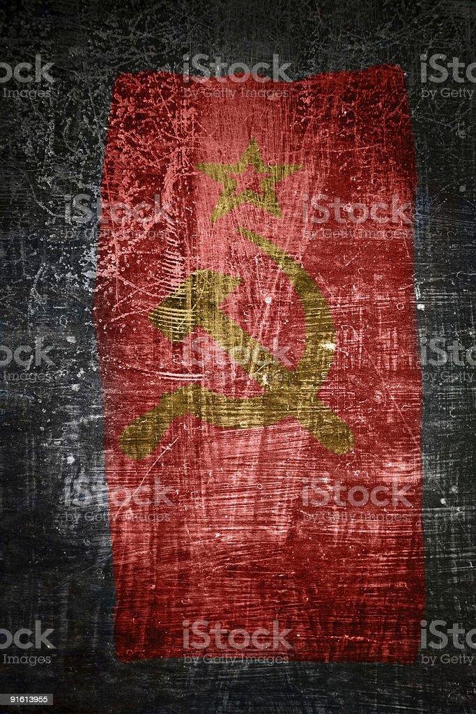 grunge flag of the Soviet Union stock photo