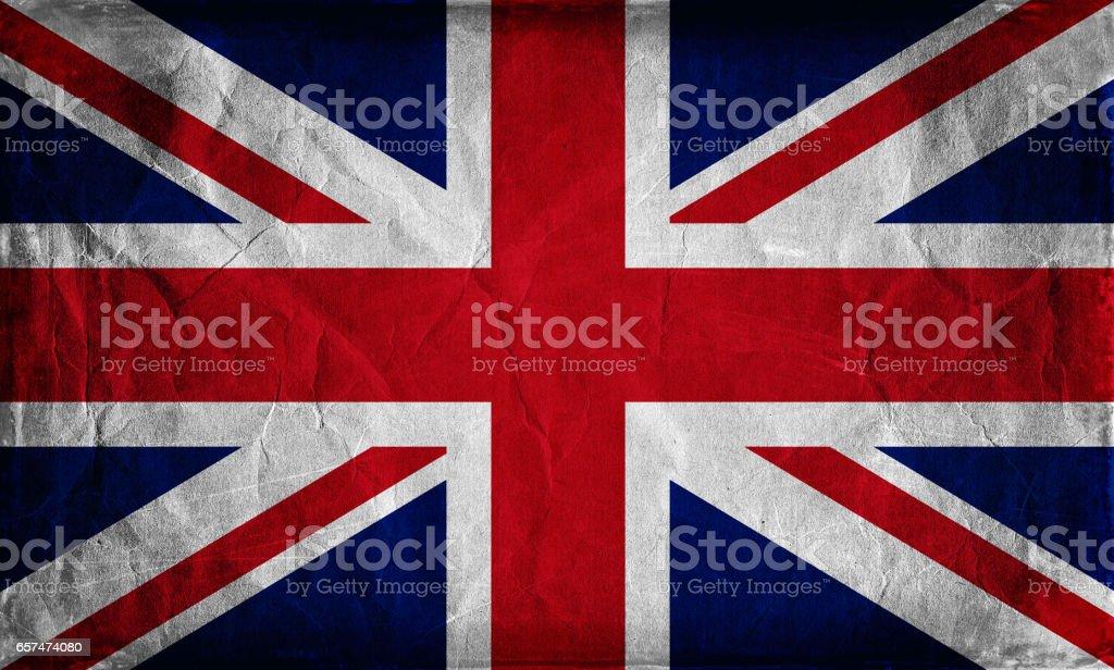 Grunge flag of the United Kingdom background stock photo