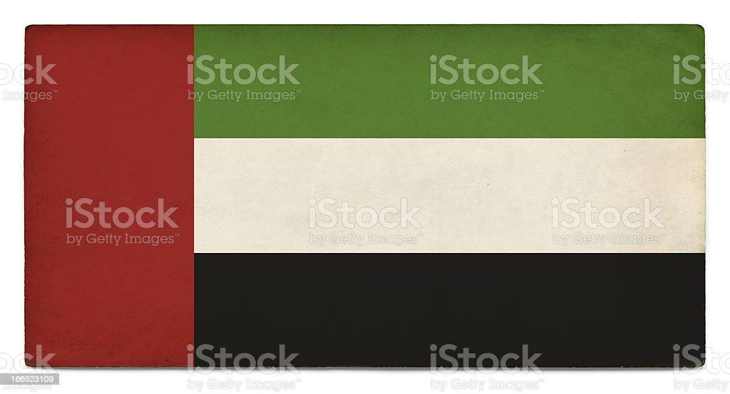 Grunge flag of United Arab Emirates on white royalty-free stock photo