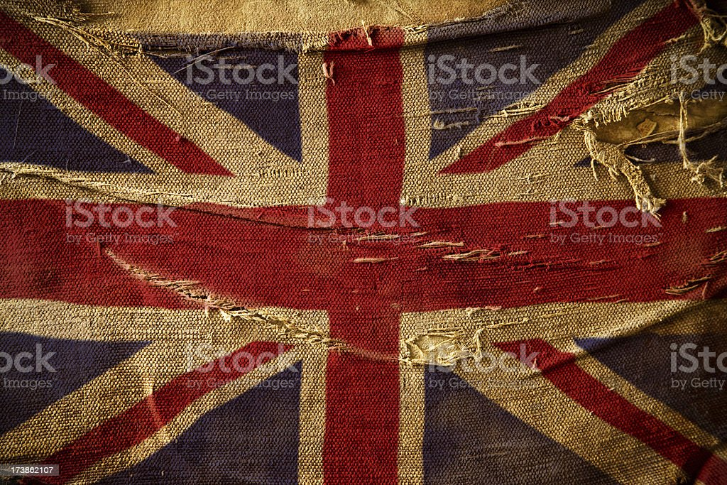 Grunge Flag of United Kingdom royalty-free stock photo
