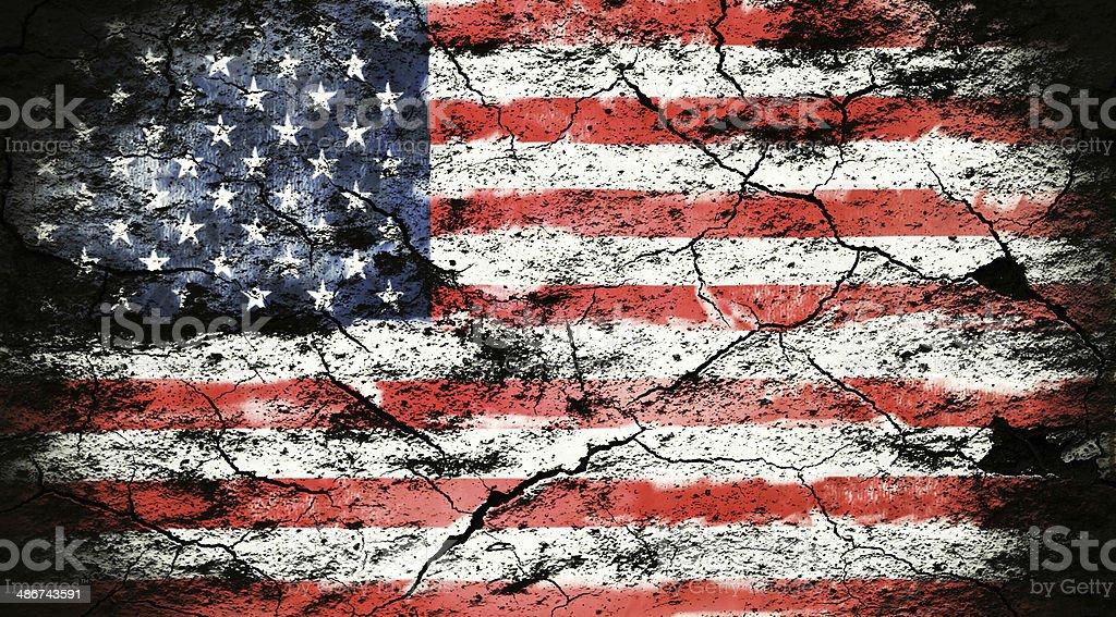 Grunge flag of USA stock photo