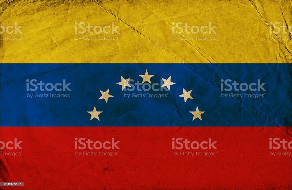 Grunge flag of Venezuela stock photo