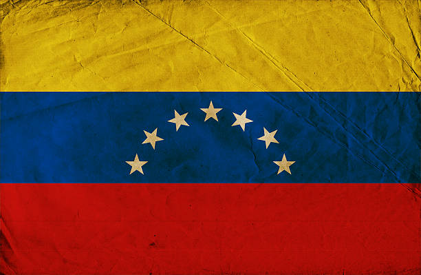 grunge flag of venezuela - venezuelan flag stock photos and pictures