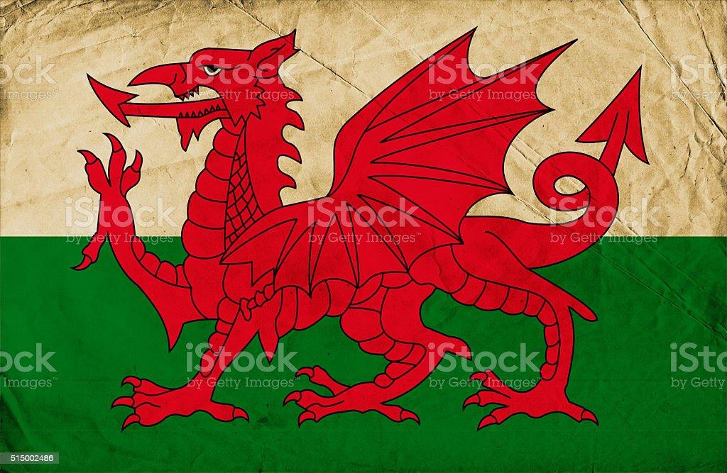 Grunge Flag of Wales stock photo