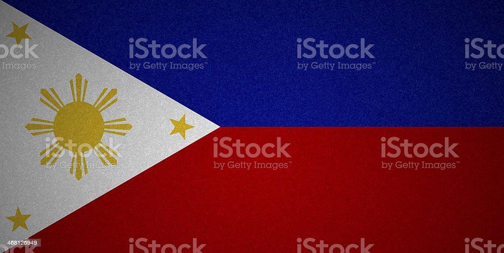 Grunge flag series - Philippines stock photo