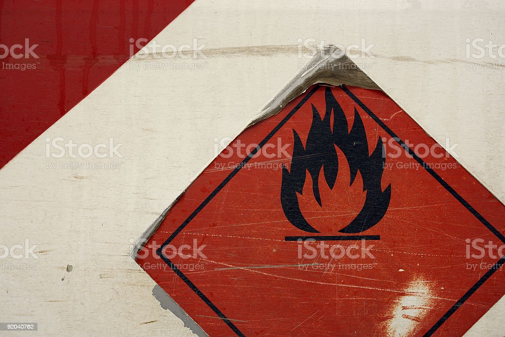 Grunge flammable symbol royalty-free stock photo