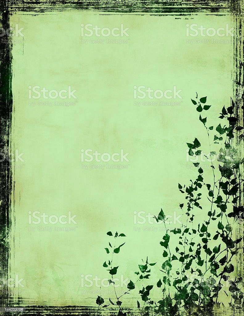 grunge foliage frame royalty-free stock photo