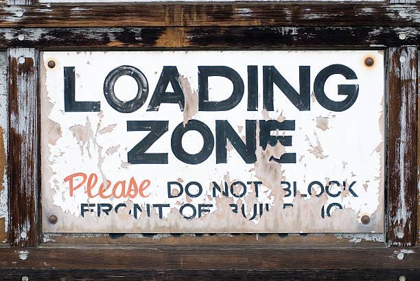Grunge Frame - Loading Zone stock photo