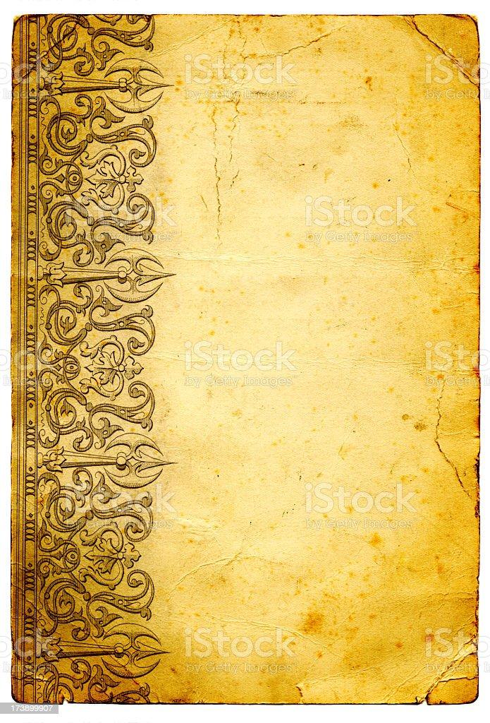 Grunge frame paper royalty-free stock photo