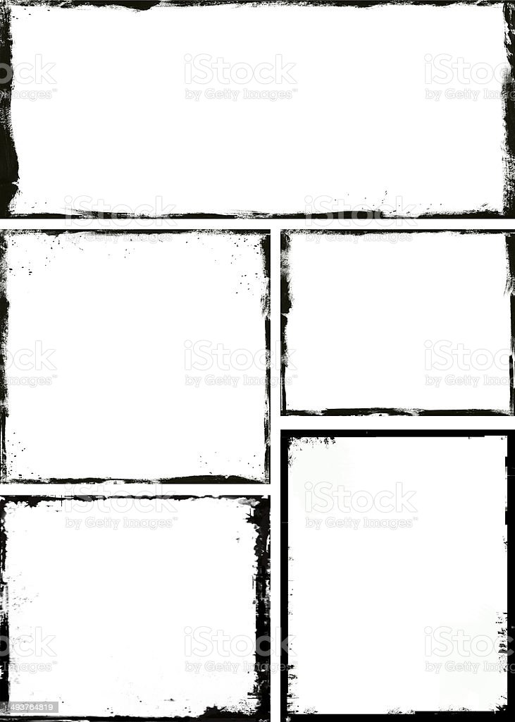 Grunge frame stock photo