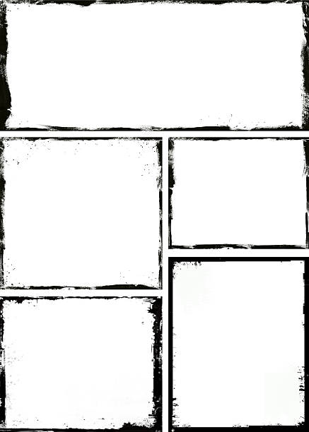 grunge frame - pencil drawing stock pictures, royalty-free photos & images