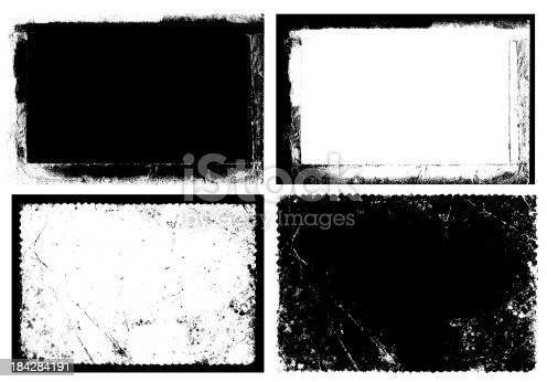 Grunge Frame & Texture isolated on white background.
