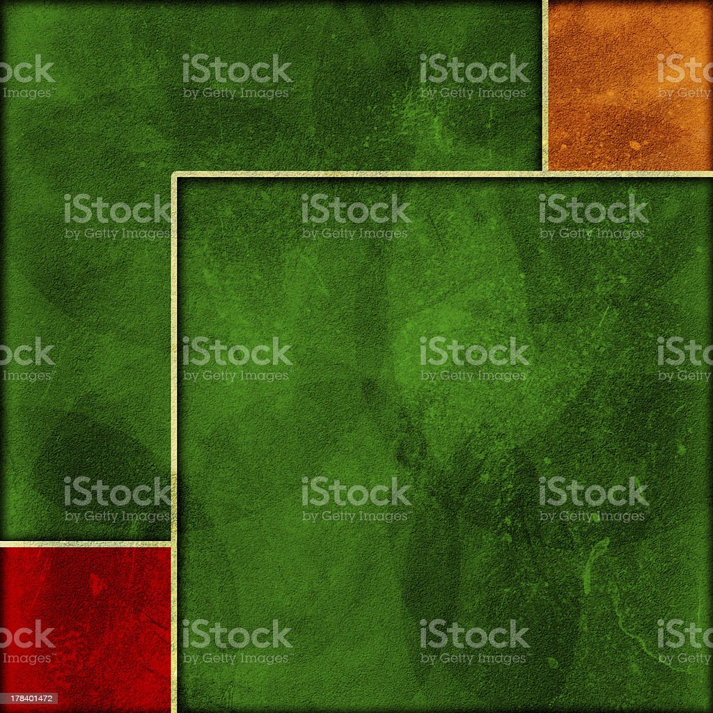 Grunge frame with a colorful background. royalty-free stock photo