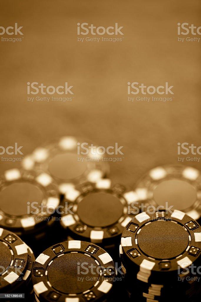 Grunge gambling chips stock photo