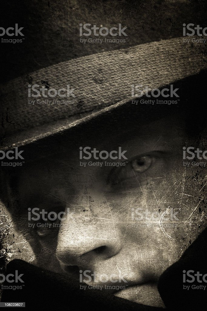 Grunge Gangster royalty-free stock photo