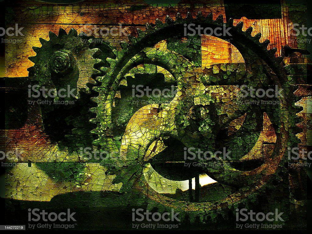 Grunge gears 2 royalty-free stock photo