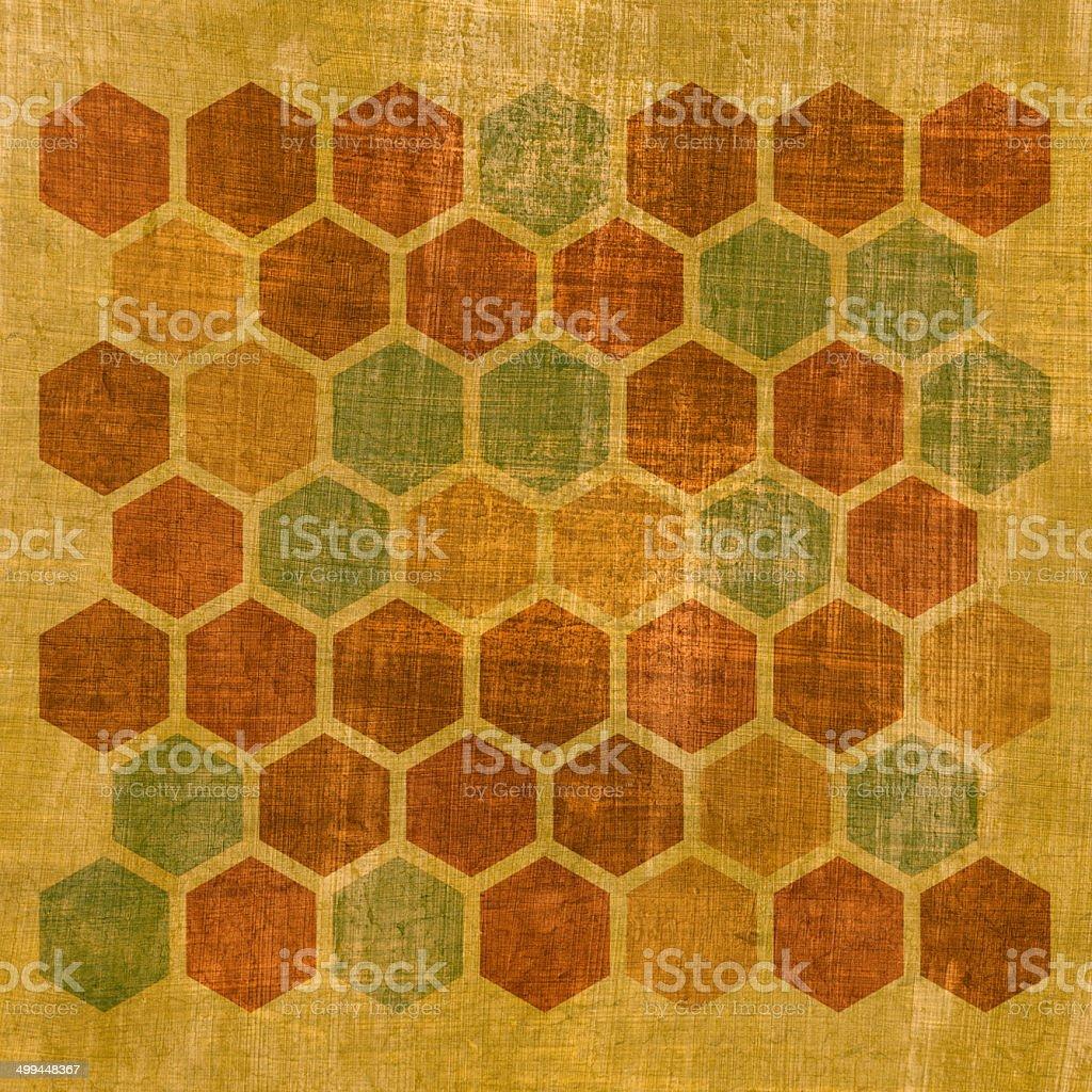Grunge geometric hexagon pattern royalty-free stock photo