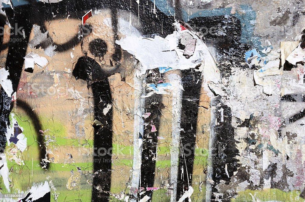 grunge graffiti wall royalty-free stock photo