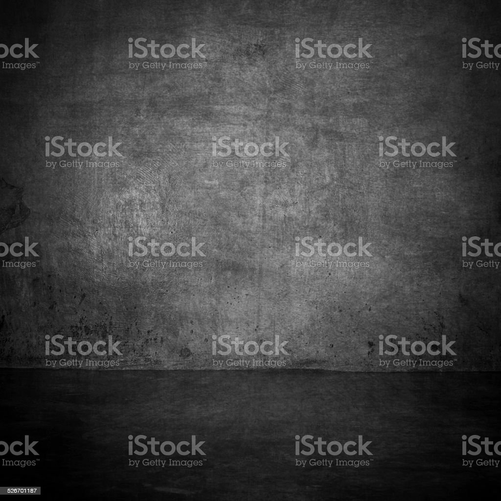 grunge gray wall room texture with space stock photo