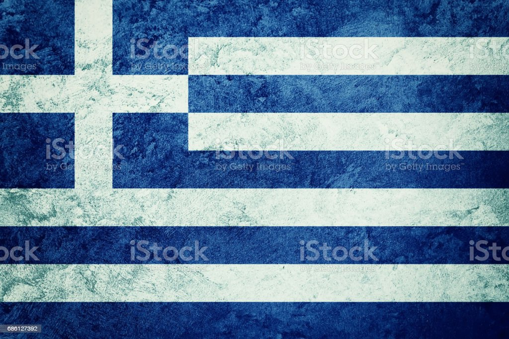 Grunge Greece flag. Greece flag with grunge texture. - foto de stock