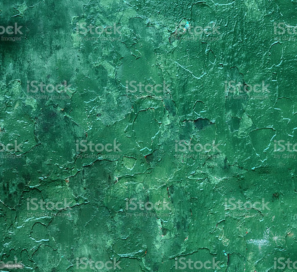 Grunge green paint background or texture stock photo
