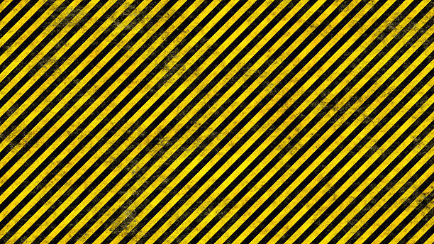 Grunge Hazard Lines stock photo