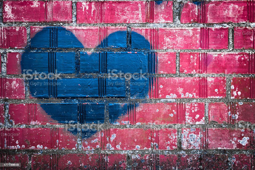 Grunge heart stock photo