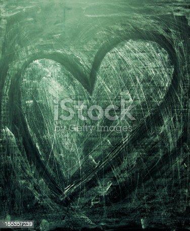 istock Grunge heart texture 155357239