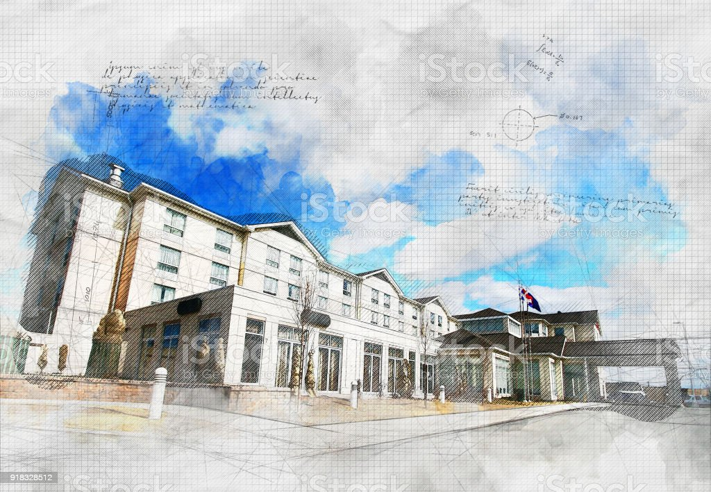 Grunge Hotel stock photo