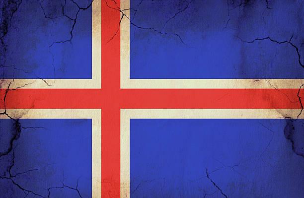 Grunge Bandeira Islandesa - foto de acervo