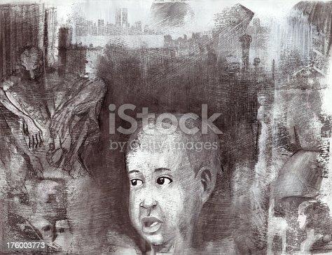 istock Grunge Illustration Collage 176003773