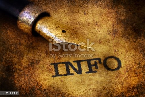 472273278 istock photo Grunge info text and pen 912311398