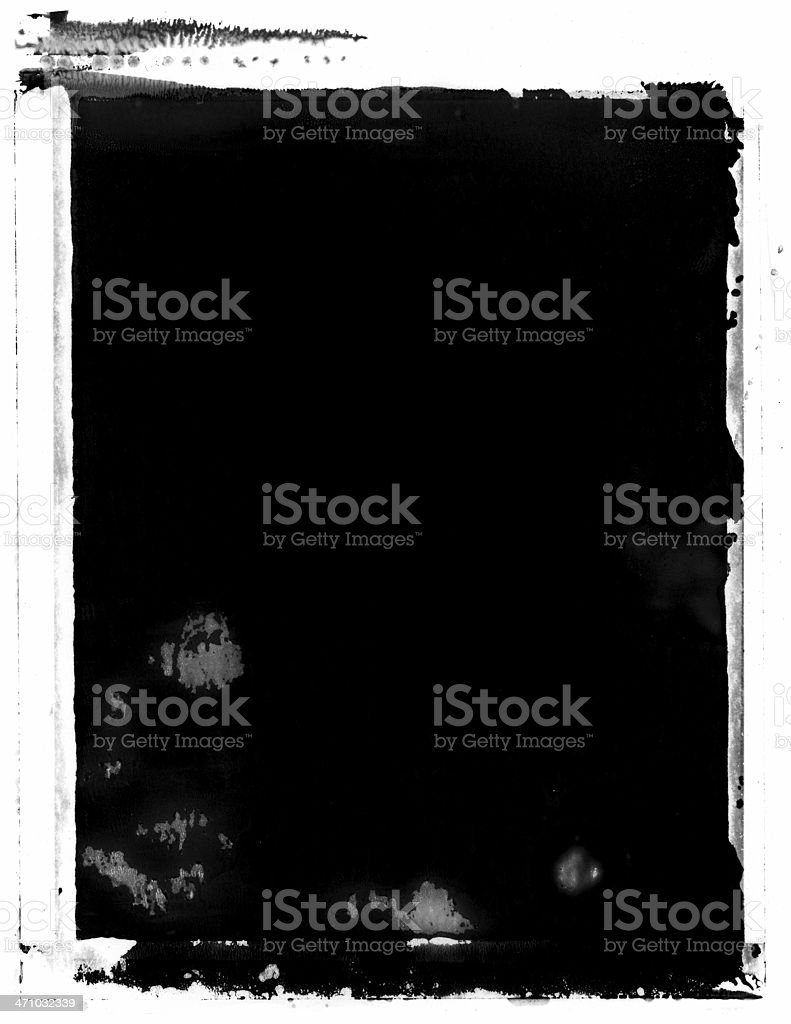 Grunge instant Image Transfer Background or Frame stock photo