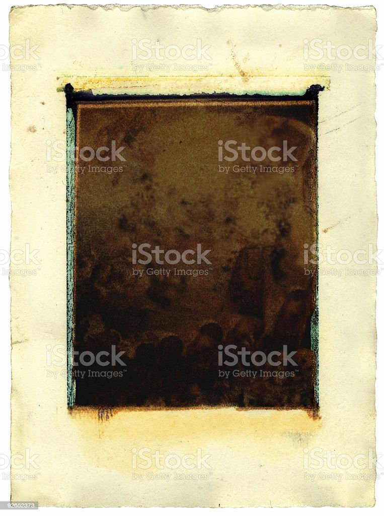 Grunge instant print transfer stock photo