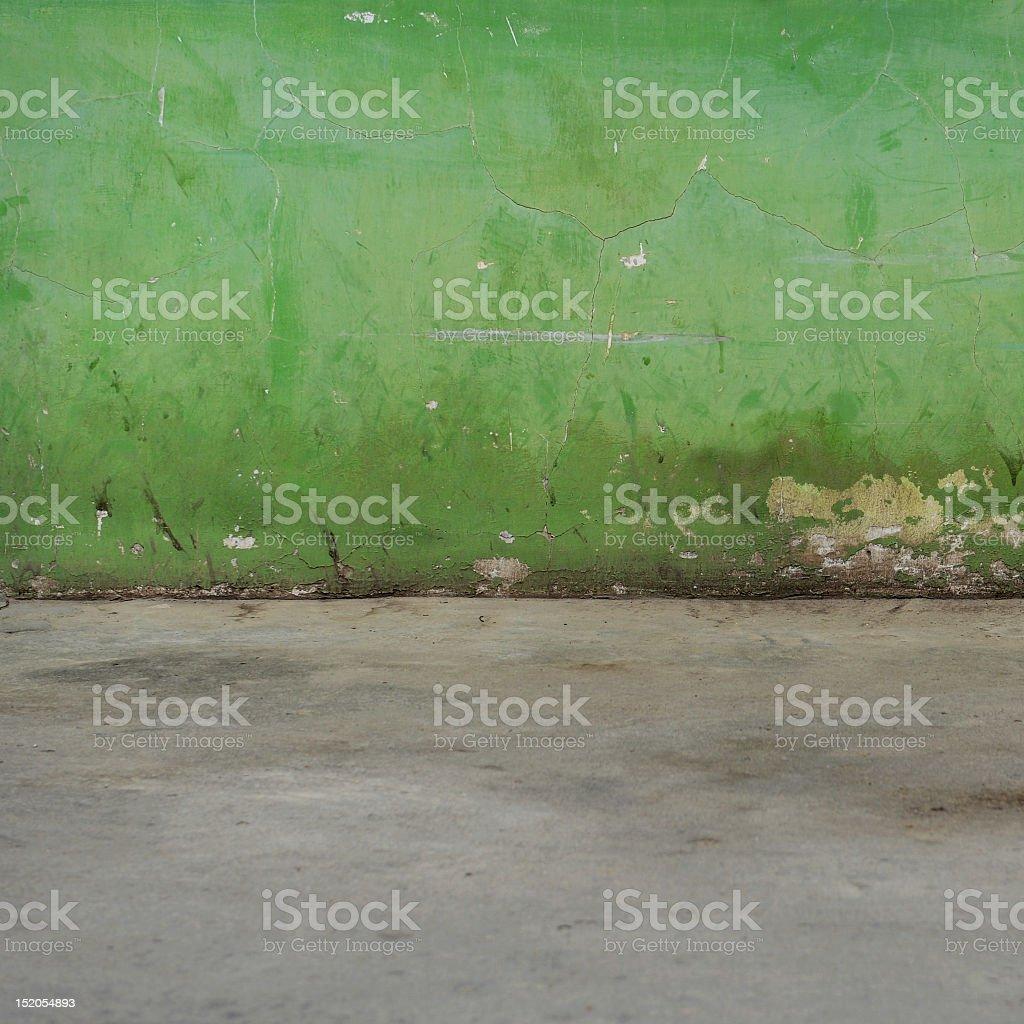 grunge Wand und Boden innen Lizenzfreies stock-foto