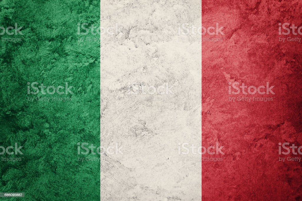 Grunge Italy flag. Italian flag with grunge texture. stock photo