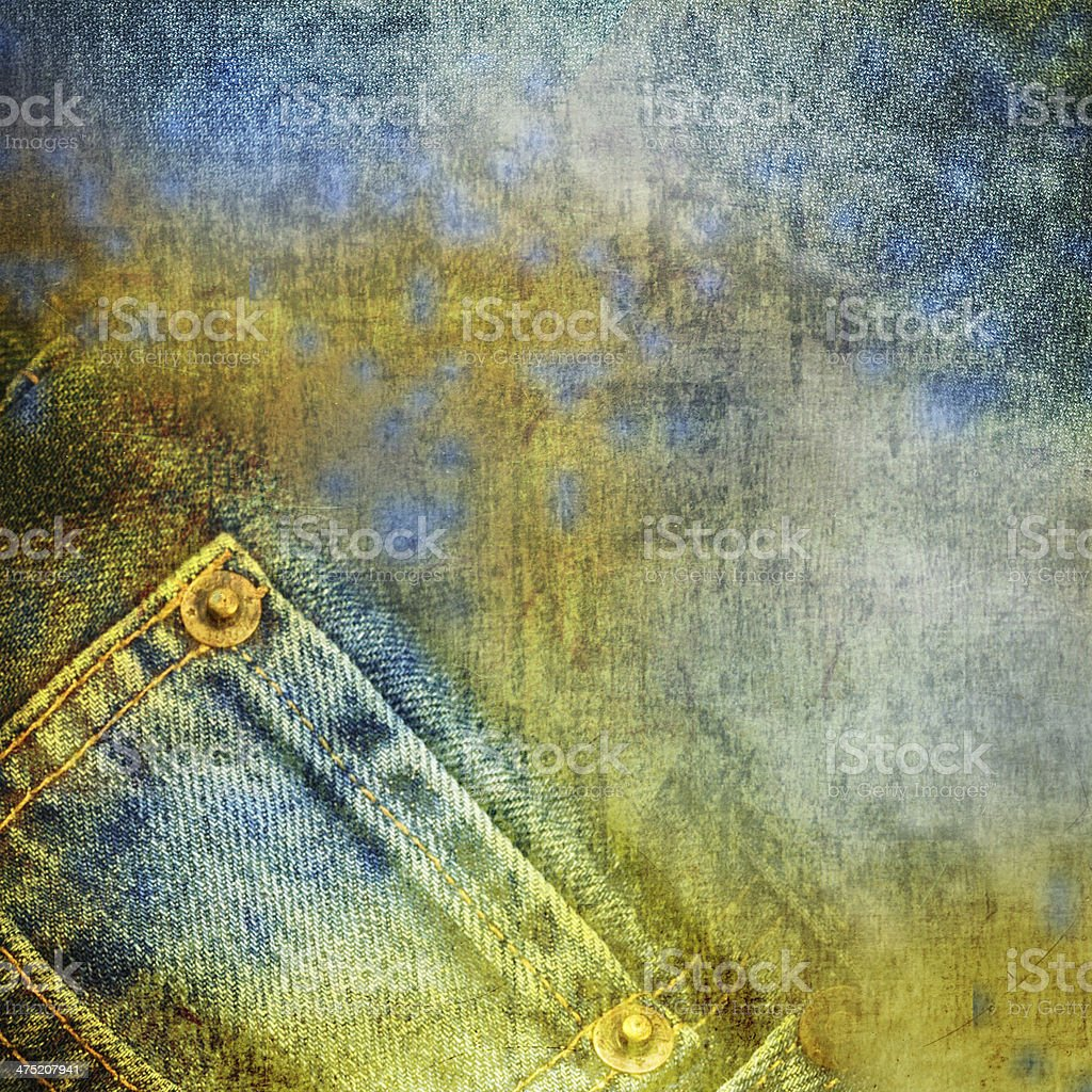 Grunge jeans background royalty-free stock photo