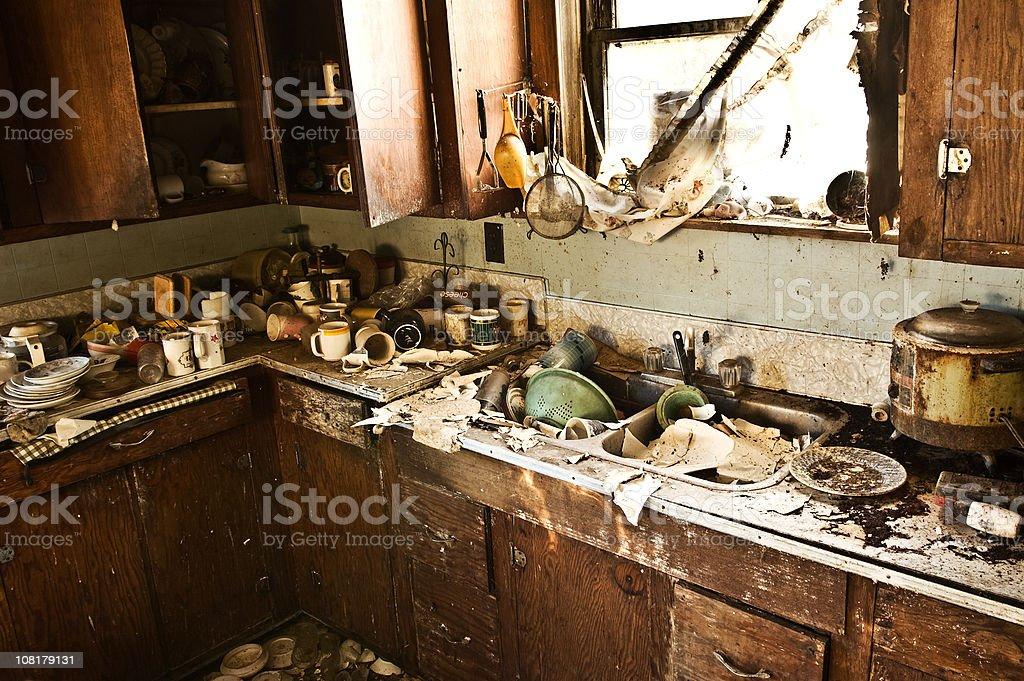 Grunge Kitchen royalty-free stock photo