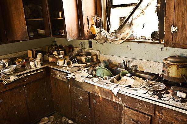 グランジのキッチン ストックフォト
