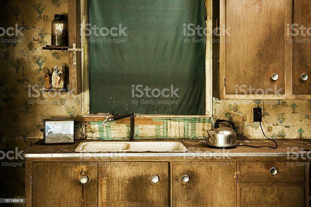 Grunge Kitchen stock photo